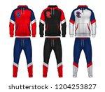 sport track suit design... | Shutterstock .eps vector #1204253827