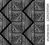 tribal geometric pattern with... | Shutterstock .eps vector #1204255534