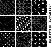a set of geometric patterns | Shutterstock .eps vector #1204255687