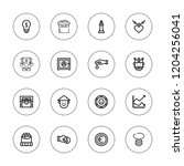 wealth icon set. collection of... | Shutterstock .eps vector #1204256041