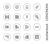 film icon set. collection of 16 ... | Shutterstock .eps vector #1204256344