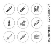knight icon set. collection of... | Shutterstock .eps vector #1204256407