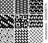 a set of geometric patterns | Shutterstock .eps vector #1204258774