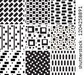 a set of geometric patterns | Shutterstock .eps vector #1204258891