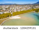 aerial view of annecy lake...   Shutterstock . vector #1204259131