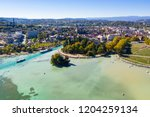 aerial view of annecy lake...   Shutterstock . vector #1204259134