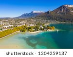 aerial view of annecy lake...   Shutterstock . vector #1204259137