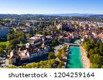 aerial view of annecy lake...   Shutterstock . vector #1204259164