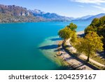aerial view of annecy lake...   Shutterstock . vector #1204259167