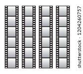 slide film frame set  film roll ... | Shutterstock . vector #1204260757