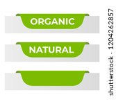 natural label and organic label ... | Shutterstock . vector #1204262857