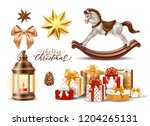 merry christmas winter holiday... | Shutterstock .eps vector #1204265131