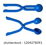 blue plastic snow gloss for a...   Shutterstock .eps vector #1204278391