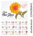 Elegant Calendar 2019 With ...