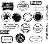 Vector Set Of Retro Stamps And...