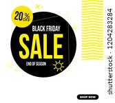black friday instagram social... | Shutterstock .eps vector #1204283284