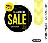 black friday instagram social... | Shutterstock .eps vector #1204283284