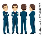 happy young adult businessman...   Shutterstock .eps vector #1204287217