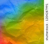 colorful wrinkled wallpaper  | Shutterstock . vector #1204287991