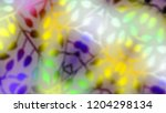 leaves abstract bokeh background | Shutterstock . vector #1204298134