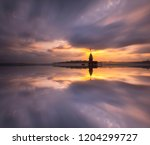 the maiden's tower in istanbul  ... | Shutterstock . vector #1204299727