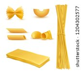 3d realistic set of dry... | Shutterstock . vector #1204302577