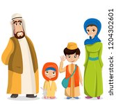 arabic family in national...   Shutterstock . vector #1204302601
