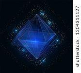 polygonal blue abstract... | Shutterstock .eps vector #1204311127