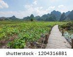 guilin yangshuo mountain range | Shutterstock . vector #1204316881