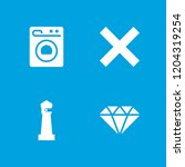 clear icon. collection of 4... | Shutterstock .eps vector #1204319254