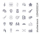 music icon. collection of 25... | Shutterstock .eps vector #1204320214