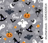 halloween seamless pattern. | Shutterstock .eps vector #1204320814