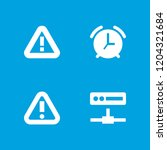 alert icon. collection of 4... | Shutterstock .eps vector #1204321684