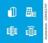 skyscraper icon. collection of... | Shutterstock .eps vector #1204321747
