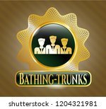 golden emblem or badge with...   Shutterstock .eps vector #1204321981