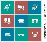 shipment icon. collection of 9... | Shutterstock .eps vector #1204324324