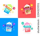 colorful four seasons sale... | Shutterstock .eps vector #1204325551