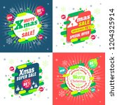 merry christmas sale special... | Shutterstock .eps vector #1204325914