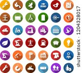 color back flat icon set  ... | Shutterstock .eps vector #1204328017