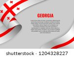 waving ribbon or banner with... | Shutterstock .eps vector #1204328227