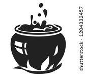 magic cauldron icon. simple... | Shutterstock .eps vector #1204332457
