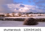 a winter sunset in the english... | Shutterstock . vector #1204341601