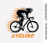 cycling race stylized symbol ... | Shutterstock .eps vector #1204348384
