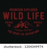 mountain explorer  wild life... | Shutterstock .eps vector #1204349974