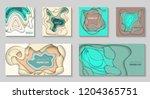 vector set of 6 backgrounds... | Shutterstock .eps vector #1204365751