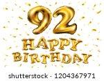 happy birthday 92th celebration ... | Shutterstock . vector #1204367971