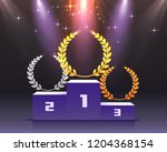stage podium with lighting ...   Shutterstock .eps vector #1204368154