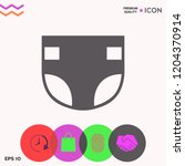 nappy icon symbol | Shutterstock .eps vector #1204370914