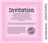 pink retro vintage invitation.... | Shutterstock .eps vector #1204376491