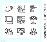 simple set of 9 icons related... | Shutterstock .eps vector #1204376611